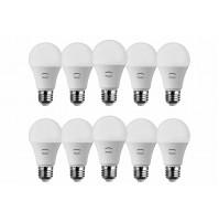 10 LAMPADE LED GOCCIA A60 RISPARMIO ENERGETICO LAMPADINA E27 220-240V A+ PEGASO
