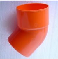 2x SEMICURVA CURVA 45° SUPER IN PVC D. 40 mm COLORE ARANCIO