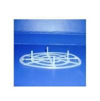 4 pz PRESSELLI PER BARATTOLI CONSERVE IN PLASTICA PER BOCCHE MM. 80 CON PIEDINI