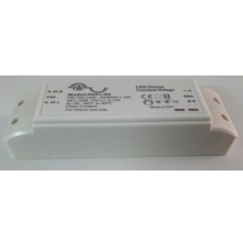 ALIMENTATORE A TENSIONE COSTANTE 12V - 50 W 4.17A LAMPADE FARETTI STRISCIA LED