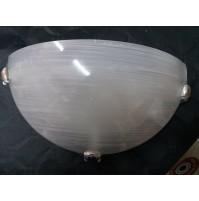APPLIQUE LAMPADA DA PARETE IN VETRO MEZZALUNA CM.30 ATTACCO LAMPADA E27