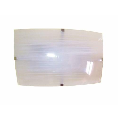 APPLIQUE LAMPADA DA PARETE IN VETRO RETTANGOLARE CM.30X18 ATTACCO LAMPADA E27