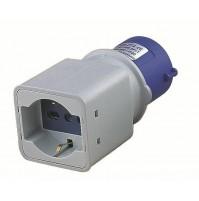 Adattatore industriale IP20 SPINA 2P+T 16A BLU PRESA 2P+T + SCHUKO