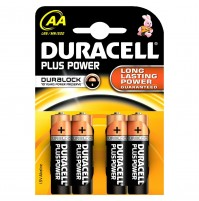 BATTERIE BATTERIA STILO DURACELL 4 PZ PLUS POWER