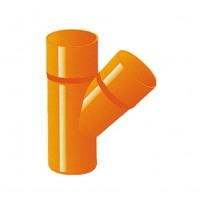 BRAGA A V IN PVC D. 80 COLORE ARANCIO DERIVAZIONE SERIE PESANTE SUPER PLASTICA