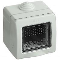 BTICINO IDROBOX MAGIC - MATIX SCATOLA CUSTODIA 2 POSTI PORTAFRUTTI  IP55 25502