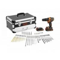 Black&Decker Trapano avvitatore a percuss 2 batterie 18V in valigetta +80 access