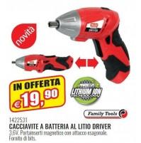 CACCIAVITE A BATTERIA AL LITIO DRIVER REVERSIBILE 3,6V 1422531 VALEX