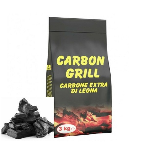 CARBONE CARBONELLA LEGNO VEGETALE 3 kg BARBECUE GRIGLIA ARROSTIRE BRACE PIC NIC