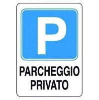 CARTELLO SEGNALETICO TARGA TABELLA PARCHEGGIO PRIVATO 20X30