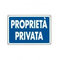 CARTELLO SEGNALETICO TARGA TABELLA PVC PROPRIETA' PRIVATA 20X30