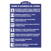 CARTELLO TARGHETTA SEGNALETICA NORME SICUREZZA SUL LAVORO 20X30 PVC PROTEZIONE