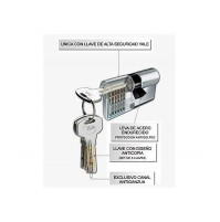 CILINDRO EUROPEO YALE MM82 30-50 N,5 CHIAVI PIATTE IN DOTAZIONE