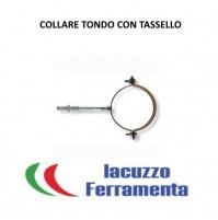 COLLARE TONDO PER PLUVIALI D.80 MM CON TASSELLO FINITURA MARRONE STRINGITUBO