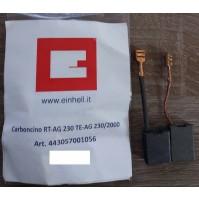 COPPIA SPAZZOLE CARBONCINI PER SMERIGLIATRICE ANGOLARE RT-AG 230 TE-AG 230/2000
