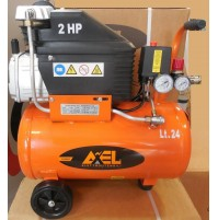 Compressore aria 24 litri coassiale lubrificato 2 Hp 8bar FU1507 AXEL