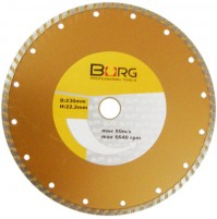 DISCO DIAMANTATO UNIVERSALE TAGLIA PIASTRELLE 230 MM TURBO 22,2 mm EN13236 BURG