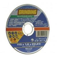 DISCO PER FERRO ACCIAIO INOX 115x1,6x22,23 115 mm GRINDING mola
