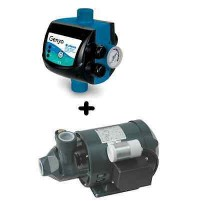 ELETTROPOMPA LOWARA PM16 MOTORE ACQUA + PRESS CONTROL 8A/F22 2,2 AUTOCLAVE POMPA