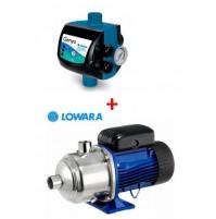 ELETTROPOMPA POMPA 3HM03 LOWARA HP 0,67 + presscontrol GENYO 8A/F15 1,5 BAR