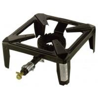 FORNELLONE A GAS OMAC DRAGO NERO PER PENTOLE FORNELLO 40x40 cm
