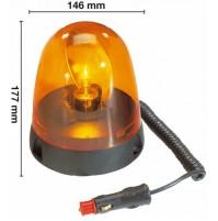 GIROFARO LAMPEGGIANTE MAGNETICO 12 volt  AMA Omologazione R10 -04 13008