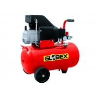 GLOBEX Compressore aria monofase 230V Capacità 24 litri 1500W 2HP