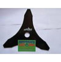 LAMA DECESPUGLIATORE A TRE PUNTE IN ACCIAO MOD ATTILA 25 x 5 CM SPESS. 3 mm