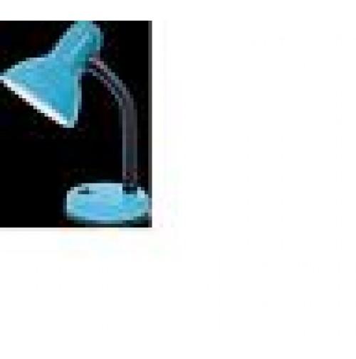 LAMPADA DA TAVOLO COLORE AZZURRO CON INTERRUTTORE ATTACCO E27 MAX 60 WATT