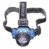 LAMPADA FRONTALE 7 LED TORCIA TESTA CON ELASTICI 947790