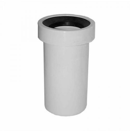 MANICOTTO WC TUBO PROLUNGA VASO DA 100 mm lungh 40cm rigido diritto SENZA ROSONE