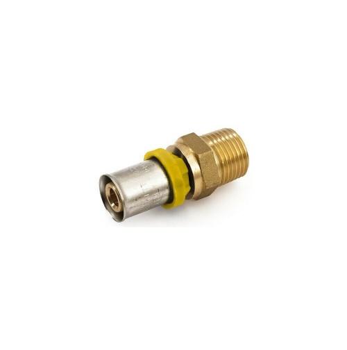 NIPLES RACCORDO TUBO MULTISTRATO A PRESSARE ACQUA/GAS trident gf 20x1/2 maschio