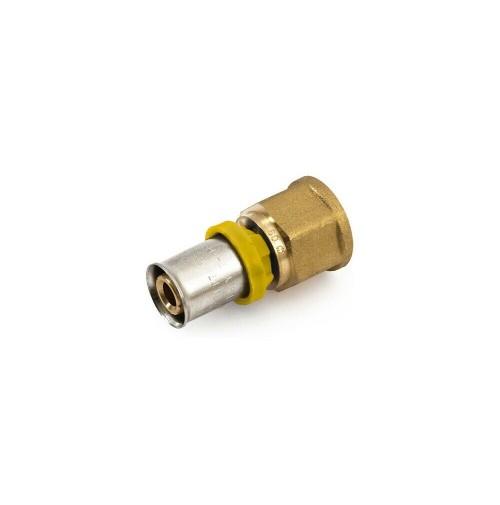 NIPLES RACCORDO TUBO MULTISTRATO A PRESSARE x ACQUA/GAS trident gf 20x3/4 femmin