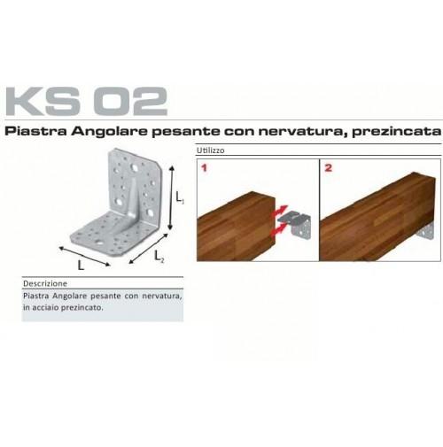 PIASTRA ANGOLARE PESANTE CON NERVATURA 70X70X55 - 2,5 mm ANGOLO PER LEGNO