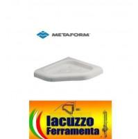 PORTASAPONE IN DUROLITE DOCCIA AD ANGOLO METAFORM SERIE LINEA BIANCO 295