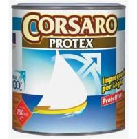 PROTETTIVO IMPREGNANTE MORDENTE LEGNO SOLVENTE CORSARO PROTEX 750 ML VARI COLORI