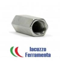 PZ.2 DADO DI GIUNZIONE ESAGONALE  ZINCATO MM.12X30 IDEALE PER BARRE FILETTATE