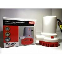 Pompa elettrica BATTERIA sommergibile 12 V ES1500 Valex acque chiare NAUTICA