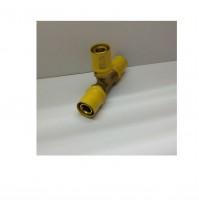 RACCORDO A T TEE MULTISTRATO A PRESSARE x GAS APE 20x20x20 SP. 2.0 mm 3 LATI