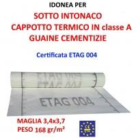 RETE IN FIBRA DI VETRO INTONACO SIRIUS VTX 168ST 3,4x3,7mm PESO 168gr/mq ETAG004