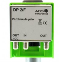 RIPARTITORE PARTITORE DA PALO ESTERNO 2 USCITE DP2/F ANTENNA TV connettori F