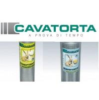 Rete metallica zincata per recinzione CAVATORTA Made in ITALY - ROTOLO 25 50 mt