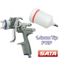 SATA Jet 100 B F RP Aerografo Ugello 1.4mm Filler Primer/Pistola Spruzzo 0.6lt