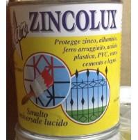 SMALTO VERNICE FERRO BATTUTO MICACEO GRIGIO FERRO LT. 0 .750 ZINCOLUX