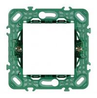 SUPPORTO VIMAR PLANA 2 moduli 14602 + griffe INT71 x scatole da incasso ø 60 mm
