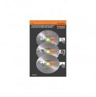 Set 3 dischi per smeriglio diamantati diametro 115 mm DISCO DIAMANTATO KAPRIOL