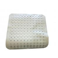 TAPPETO BIANCO PER doccia BAGNO TERMOPLASTICO PVC tappetino GEMITEX 53 x 53 cm