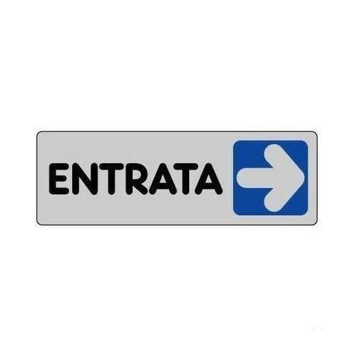 TARGA CARTELLO TARGHETTA ADESIVA ENTRATA DX