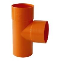TEE T IN PVC PLASTICA  D.80 COLORE ARANCIO SUPER PLASTICA IMPIANTO COSTRUZIONE