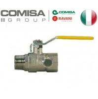 VALVOLA A SFERA GAS METANO 1/2 MF RETTA MANIGLIA LUNGA in alluminio